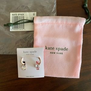 Kate Spade dangling hoop earrings. New.